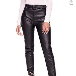 Free people Womens Faux Leather Skinny Pants